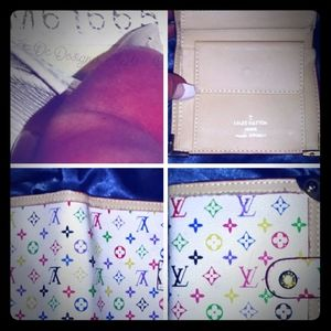 Lv wallet multicolored